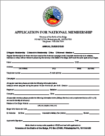 the VBOB Membership Application Form