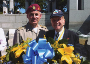 Col. Andrew Ordynovych, the Military Attache of Ukraine and J David Bailey, VBOB, at the D-Day event in Washington DC.